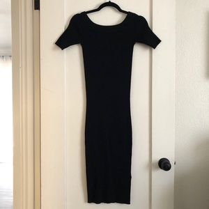 All Saints black knit dress